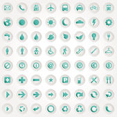 Et presentation buttons icons — Stock Vector