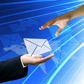 Customer service send mail to customer — Stock Photo