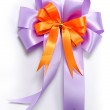Nice ribbon bow for decorate gift box — Stock Photo #7988904