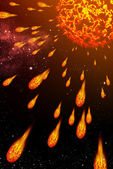 Sun explode the comet — Stock Photo