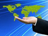 Businessman's hand need digital data — Foto de Stock