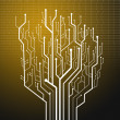 Circuit board tree shape,Technology background — Stock Photo