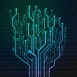 Circuit board in Tree shape — Stock Photo