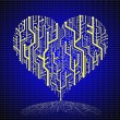 Circuit board in Heart shape - Stock Photo