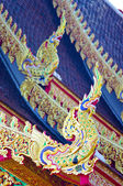 Dragon decorate in Lanna style — Stock Photo