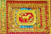 родной тайском стиле лошадь картина — Стоковое фото