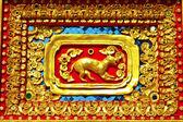 Estilo tailandés nativo del patrón de perro — Foto de Stock