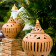 Earthenware lantern — Stock Photo