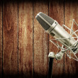 Microphone in studio — Stock Photo