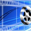 Film technology concept, Film roll background — Stock Photo