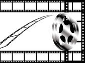 Film roll concept background — Stock Photo