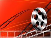 Film strip and roll — Stock Photo