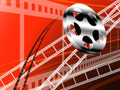Film strip and roll, Cinema technology — Stock Photo