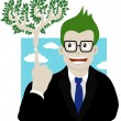 Royalty-Free Stock Vector Image: Green businessman