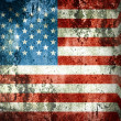 American flag in grunge style, Independence day — Stock Photo