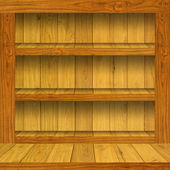 Empty wooden shelf — Stock Photo