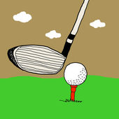 Golf game, Golf illustrations — Stock Photo