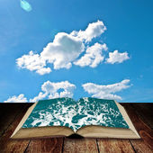 Open book to the sea — Stock Photo