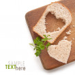 Stock Photo: Wheat Bread Slice with Heart