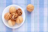 Baking in the shape of walnut — Stock Photo
