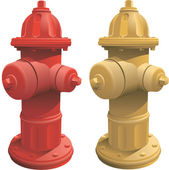 Fire Hydrants — Stockvektor
