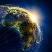 Main air routes in Africa — Foto Stock