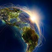 главный воздушный маршрут над центральной америки — Стоковое фото