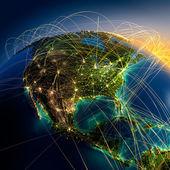 Belangrijkste luchtroutes in noord-amerika — Stockfoto