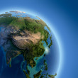 Earth with high relief, illuminated by the sun — Stock Photo #8205181