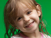 Little girl with wet hair — Stock Photo