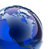 Blue glass globe — Stock Photo