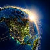Rutas aéreas principales en américa del norte — Foto de Stock