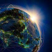 основные воздушные маршруты в азии — Стоковое фото