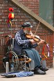Street musician — Zdjęcie stockowe