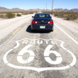 Car on the famous Route 66 - Stock Photo