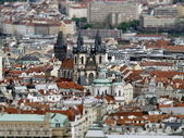 City of Prague from above (made with tilt shift technology) — Stock Photo