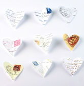 Flying love letters — Stock Photo