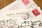 Old French Postcards — Stock Photo