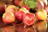 Apple heart — Stock Photo