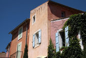 Colorful houses in Roussillon — Stock Photo