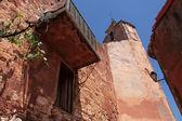 Church tower in Roussillon — Stock Photo