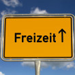 German road sign Leisure - Lizenzfreies Foto