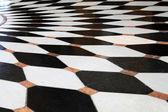 Black and white floor — Stock Photo