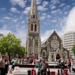 Christchurch Cathedral before the Earth quake — Stock Photo