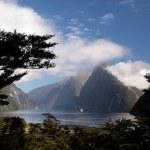 Milford Sound landscape — Stock Photo