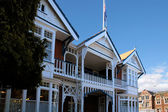 Historic timber house in Christchurch — Stock Photo