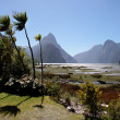 Stock Photo: Milford Sound and Mitre Peak