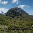Stock Photo: Hollyford Valley Lookout (Pops View) at Milford Road
