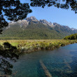 Mirror Lakes at the Milford Road — Stock Photo