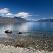 Stock Photo: Banks of Lake Te Anau, New Zealand